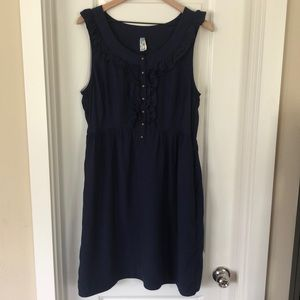 Anthropologie Navy Maeve Dress Size Large